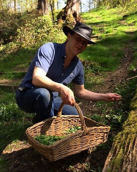 Carl goes foraging for ingredients Picture: CARL SHILLINGFORD