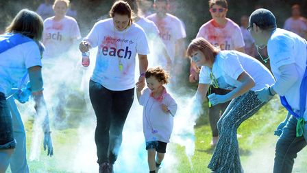 Fun but messy all for charity, the amazing colourful spectacular in Nowton Park Picture: ANDY ABBOTT