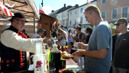 Action from last year's Bury St Edmunds Food and Drink Festival Picture: ANDY ABBOTT