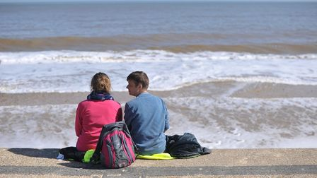 A couple enjoy the warm sea breeze Picture: SARAH LUCY BROWN
