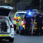 The moment police made the two arrests in Bramford Road Picture: ANDREW YOUNG