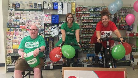 Fundraising Saturday at the East of England Co-op on Saturday July 28, Mark Cole, Vanessa Mitchell a