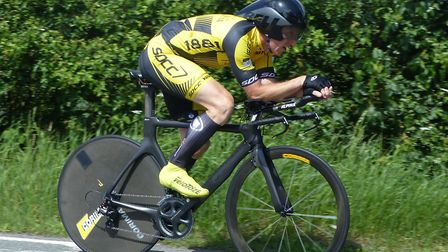Adrian Pettitt – fastest from the promoting club in the Stowmarket 10. Picture: FERGUS MUIR