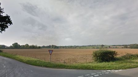 Land off Warren Lane in Woolpit set to be developed for warehouses and a new business park Picture: