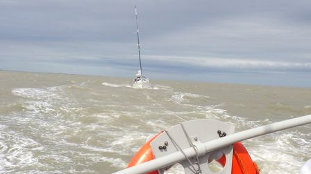 Aldeburgh RNLI tow a struggling yacht to safety Picture: ALDEBURGH RNLI
