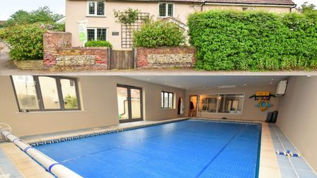 Lavenham Road located in Great Waldingfield has an impressive indoor pool Picture: FENN WRIGHT