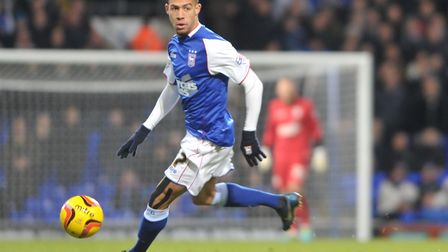 Jordan Graham had a brief loan spell at Ipswich Town, from Aston Villa, in 2013. Photo: Sarah Lucy B