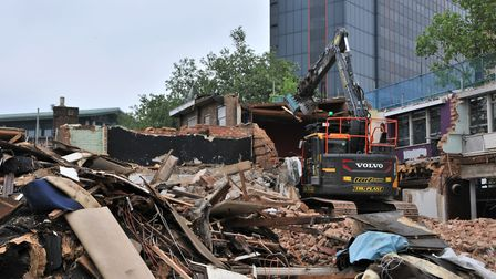 The Drum and Monkey in Ipswich was recently demolished Picture: JADE GIDDENS/IBC