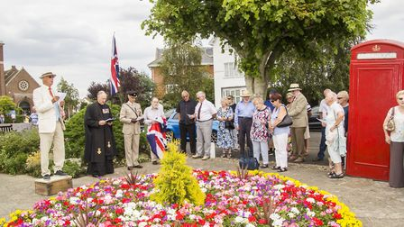 Frinton;s gun garden was inagurated and blessed Picture: CAROL BREWERTON