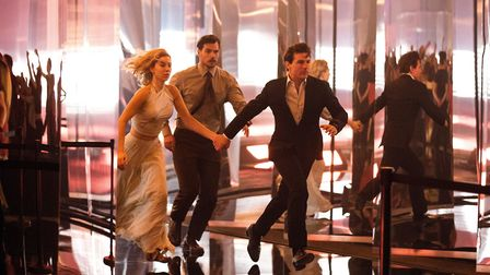 Mission: Impossible - Fallout. Pictured: (L-R) Vanessa Kirby as the White Widow, Henry Cavill as Aug