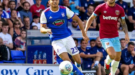 Andre Dozzell played 79 minutes of last Saturday's 2-1 home friendly defeat to West Ham. Photo: Stev