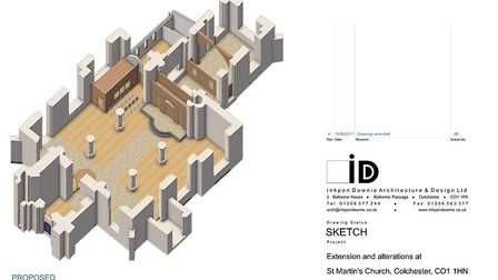 3D design images of St Martins Church. Picture: Inkpen Downie