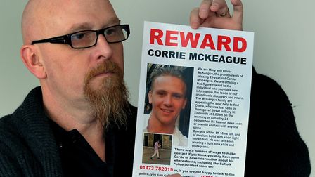 Martin McKeague at an appeal for his son. He now claims to know what happened to the RAF airman Pict