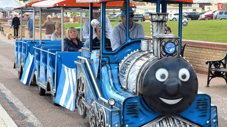 A man has been arrested on suspicion of burglary following the theft of the Lowestoft land train Pic