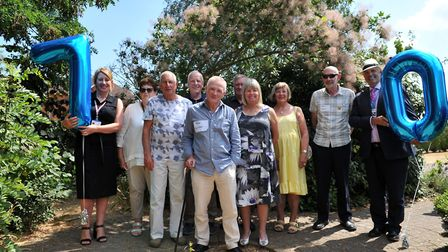 Lisa Nobes and Dr Mark Shenton celebrate the 70th birthday of the NHS along with others that are als