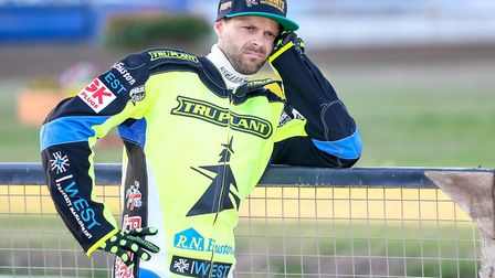 Rory Schlein deep in thought ahead of the Ipswich v Lakeside meeting. Picture: Steve Waller ww