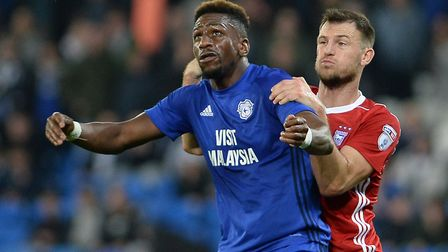 Ipswich Town have made a loan offer for Cardiff striker Omar Bogle. Picture PAGEPIX
