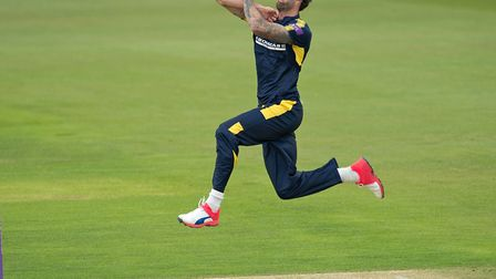 Reece Topley in action for Hampshire before injury struck again. Picture: HAMPSHIRE CC