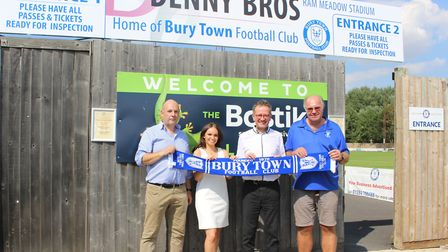 Left to right: Graham Denny, Lucy Denny, Stephen Jarrold and Russell Ward. Bury Town will play in th