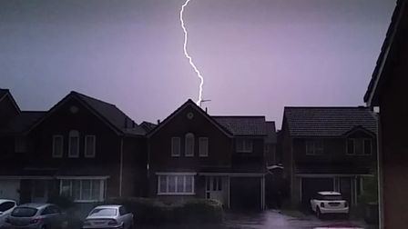 There is a risk of thundery showers tonight Picture: JOE BRETT
