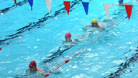 Swimmers at Crown Pools in Ipswich. Picture: WENDY TURNER