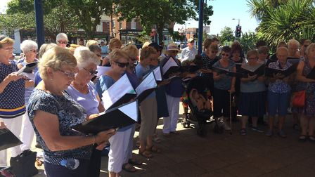 Felixstowe Community Choir will perform at Felixstowe Prom on the Prom. Picture: CONTRIBUTED