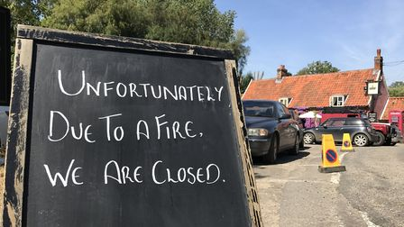 The sign outside the Fox Inn in Newbourne Picture: NEIL PERRY