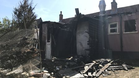 Images showing the damage at the Fox Iinn in Newbourne Picture: NEIL PERRY