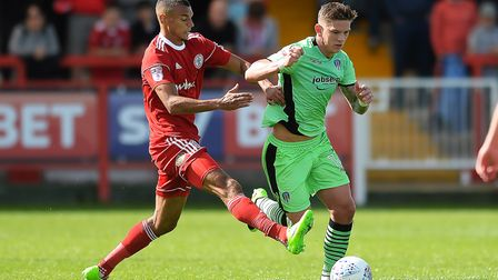 Town are hopeful of doing a deal for Accrington Stanley striker Kayden Jackson (left). Photo: Pagepi