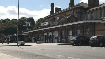 Ipswich Railway Station. Passengers have experienced cancellations and delays due to a line-side fir