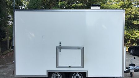 The trailer which was stolen from The Mix in Stowmarket. Picture: THE MIX