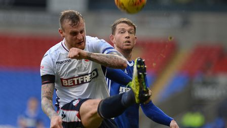 Joe Garner is the subject of transfer interest from Bolton. Picture: PAGEPIX