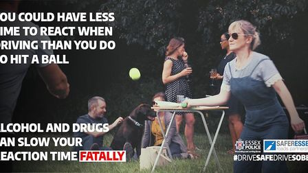 Essex police's summer #DriveSafeDriveSober anti-drink and drug driving campaign. Picture: ESSEX POLI