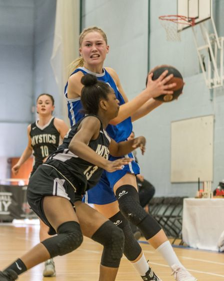 Esther Little is considered the best basketball player in the country for her age. Picture: PAVEL KR
