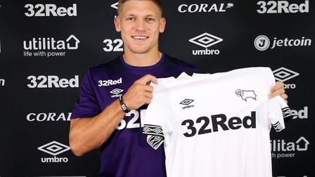 Martyn Waghorn has left Ipswich Town to sign for Derby County. Picture: DERBY COUNTY