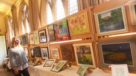 Photo shows Felixstowe Art Group's annual exhibition two years ago - this year's is the 67th event P