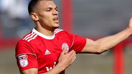 Kayden Jackson is on his way to Suffolk to complete his move from Accrington. Photo: PA