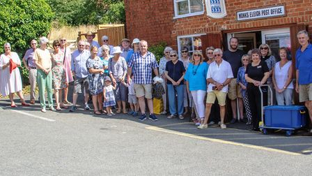 Villagers waved goodbye to their postman Steve Brown Picture: ARTHUR GROSSET