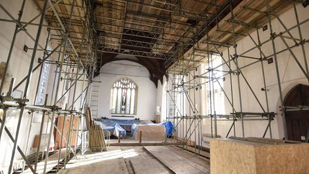 Work on St John the Baptist Church in Needham Market is expected to be finished by the end of the mo