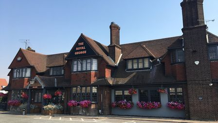The Royal George pub, on the corner of Colchester Road and Sidegate Lane, Ipswich. Picture: JAKE FOX