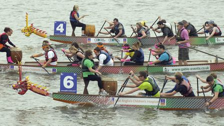 East Anglian Dragon Boat Festival at Oulton Broad. Photo: Andy Darnell
