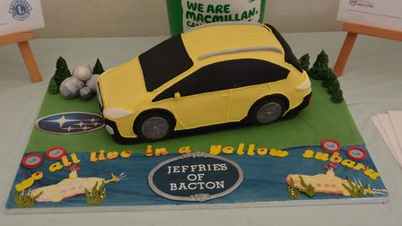 The cake, which was made by Glenda Price of Stowmarket Sugarcraft Club Picture: STOWMARKET LIONS