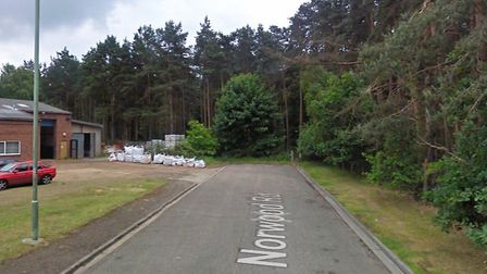 The blaze is affecting land at the end of Norwood Road Picture: GOOGLE MAPS