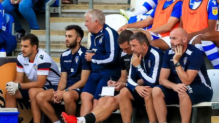 U's boss John McGreal, right, in the dug-out in pre-season, is not expecting any ins or outs today.