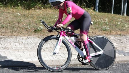 New East District Champion Becky Murley on her way to 256 miles. Picture: DOMINIC AUSTRIN