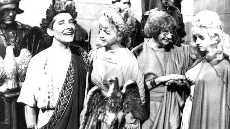 Kenneth Williams and Joan Sims in Carry On Cleo