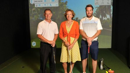 Left to right, Mike Bacon, Tamara Unwin and Josh Day pictured in front of of Stoke-by-Nayland's new