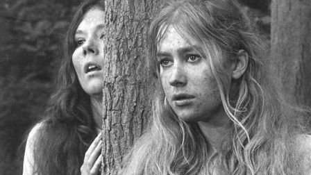Diana Rigg and Helen Mirren in Peter Hall's 1968 production of A Midsummer Night's Dream. Photo: Dav