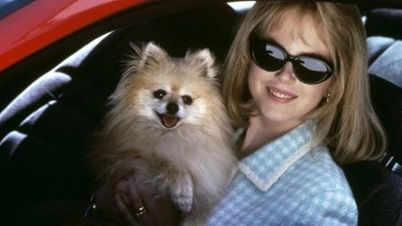Nicole Kidman as ambitious TV weather girl Suzanne Stone in Gus van Sant's To Die For. Photo: Rank