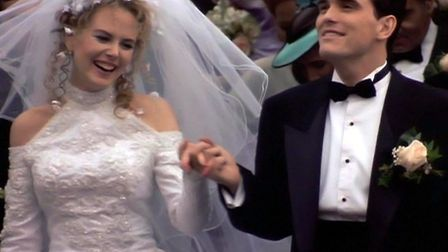 Nicole Kidman as ambitious TV weather girl Suzanne Stone marries nice but dim bar man Larry Maretto